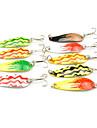 1 pcs Fiskbete Hårt bete Lätt att bära Liten storlek Lätt och bekvämt Sjunker Bass Forell Gädda Spinnfiske Färskvatten Fiske Karpfiske Kolstål Metall / Abborr-fiske / Drag-fiske / Generellt fiske