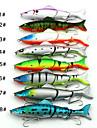 1 pcs Fiskbete Hårt bete Lätt att bära Liten storlek Lätt och bekvämt Sjunker Bass Forell Gädda Spinnfiske Färskvatten Fiske Karpfiske Kolstål Metall PP (Polypropen) / Abborr-fiske / Generellt fiske