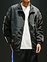 Herr Vindtät jacka streetwear Färgblock Svart Grön Röd Fitness Överdelar Plusstorlekar Långärmad Sport Sportkläder Lättvikt Vindtät UV-resistent Mjuk Oelastisk