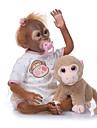 NPKCOLLECTION Reborn-dockor Spädbarn 24 tum levande Gulligt Konstgjord implantering Brown Eyes Unge Unisex Leksaker Present