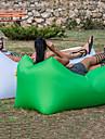 Luftbädd Uppblåsbar soffa Luftmadrass Design-Idealisk soffa Utomhus Camping Vattentät Bärbar Fuktighetsskyddad oxford 260*70 cm Camping Strand Resa för 1 person Vår Sommar Höst Grön Blå Rosa