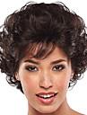 Syntetiska peruker Lugg Lockigt Gratis del Peruk Korta Brun / Bourgogne Syntetiskt hår 12 tum Dam Dam syntetisk Till färgade kvinnor Mörkbrun