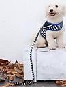 Hund Selar Koppel Väst Anti Lost Brittisk Tyg Mörkblå Röd