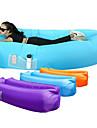 Luftbädd Uppblåsbar soffa Utomhus Bärbar Snabb uppblåsbar Anti-luftläckande design Terylen 260*70 cm Strand Camping Resa Vår Sommar Blå Violet t Vinröd