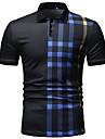 رجالي قميص الجولف قميص تنس مخطط كم قصير شارع عادي قمم موضة متنفس أبيض أسود أزرق البحرية / قمصان الجولف / غسيل بالغسالة / التنظيف الرطب والجاف / غسيل باليد