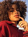 Syntetiska peruker Lockigt Kinky Curly Avril Middle Part Peruk Korta Beige Syntetiskt hår 14inch Dam Klassisk syntetisk Heta Försäljning Brun / Naturlig hårlinje / Naturlig hårlinje