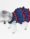 Katt Hund Klänningar Smoking Hundkläder Mörkblå Kostym Denim Brittisk Fest Cowboy Ledigt / vardag XS S M L XL