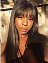 Mänskligt hår Peruk Lång Kinky Rakt Naturlig Straight Bob-frisyr Asymmetrisk frisyr Svart Moderiktig design Justerbar Bekväm Utan lock Dam Alla Svart 24 tum / Naturlig hårlinje / Naturlig hårlinje