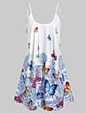 Women\'s Strap Dress Short Mini Dress Blue Red Sleeveless Animal Print Summer cold shoulder Hot Streetwear Boho Loose 2021 L XL XXL 3XL 4XL 5XL