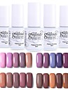 Nagellack UV-gel 12 pcs Stilig / Glamour Långvarig soak-off Bröllopsfest / Dagliga kläder / Datum Stilig / Glamour Moderiktig design / Bright Tone / Multifärgad