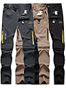 Men\'s Hiking Pants Convertible Pants / Zip Off Pants Solid Color Summer Outdoor Waterproof Breathable Quick Dry Stretchy Elastane Pants / Trousers Bottoms Dark Grey Black Khaki Hunting Fishing