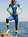 HISEA® Dam Heltäckande våtdräkt 3mm Neoprene Dykardräkter Håller värmen Långärmad Simmning Dykning Surfing Lappverk Klassisk Vår Höst Vinter