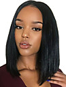Syntetiska peruker Rak Afro Middle Part Peruk Medium längd Svart och guld Syntetiskt hår 14 tum Dam Moderiktig design Len Klassisk Svart / Till färgade kvinnor