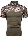 Men\'s T shirt Shirt Other Prints Camo / Camouflage Short Sleeve Sports Tops Green Gray