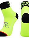 Stödstrumpor Sportstrumpor Crew sockor Cykelstrumpor Herr Fotboll Cykling / Cykel Cykel / Cykelsport Andningsfunktion Bärbar en Pair Vinter Ensfärgat Chinlon Svart Vit Orange M L XL