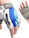 Cykelhandskar Bergscykling Andningsfunktion Anti-halk Svettavvisande Skyddande Fingerlösa Halvt finger Aktivitet/Sport Handskar Lycra Blå för Vuxna Utomhus