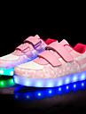 Flickor Komfort PU Sneakers Löpning Blå / Rosa / Ljusrosa Vår