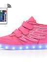 Pojkar / Flickor Lysande skor Imitationsläder Sneakers Promenad LED Blå / Rosa / Vinröd Sommar / Höst / Färgblock / Gummi