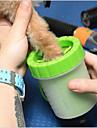 Hund Katt Små pälsdjur Städning Polypropengarn Kiselgel Bad Bärbar Husdjur Skötselprodukter Grön Blå 1