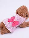 Klänningar Hundkläder Purpur Blå Rosa Kostym Spädbarn Liten hund Polyester Jacquard Rosett Rosett söt stil XS S M L XL