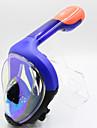 Snorkelmask Under vattnet enda fönster - Simmning Silikon - Till Barn Grön / 180° / Anti-Dimma