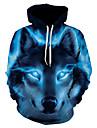 Men\'s Hoodie Jacket 3D Hooded Basic Royal Blue US32 / UK32 / EU40 US34 / UK34 / EU42 US36 / UK36 / EU44 US38 / UK38 / EU46 US40 / UK40 / EU48 US42 / UK42 / EU50 US44 / UK44 / EU52 US46 / UK46 / EU54