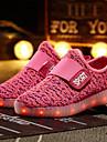 Flickor Lysande skor Flyknit Sneakers Småbarn (9m-4ys) / Lilla barn (4-7år) / Stora barn (7 år +) LED Grön / Blå / Rosa Vår / Sommar / Gummi