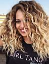 Syntetiska peruker Lockigt Vågigt Scarlett Pixie-frisyr Sidodel Peruk Blond Medium längd Black / Blonde Syntetiskt hår 18 tum Dam Justerbar Värmetåligt Enkel på- och avklädning Svart Blond