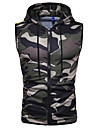 Men\'s Tank Top Shirt Camo / Camouflage Sleeveless Daily Tops Basic Hooded Green Black Red