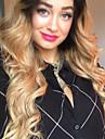 Remy-hår Hel-spets Peruk Middle Part stil Brasilianskt hår Stora vågor Peruk 130% 150% 180% Hårtäthet Party Dam Naturlig Heta Försäljning Bekväm Dam Äkta peruker med hätta Factory OEM