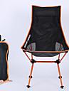 Hopfällbar campingstol Hög rygg med nackstöd Andningsfunktion Ultra Lätt (UL) Vikbar Bekväm Nät 7075 Aluminiumlegering för Camping Fiske Strand Utomhus Höst Vår Orange Blå Rubinrött Mörkblå