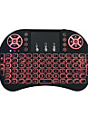 Miimall I8 USB Wired / Wireless 2.4GHz Multimedia Keyboard Luminous Rechargeable Multicolor Backlit 92 pcs Keys