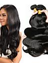 6 paket Brasilianskt hår Kroppsvågor 100% Remy Hair Weave Bundles Human Hår vävar bunt hår En Pack Lösning 8-28 tum Naurlig färg Hårförlängning av äkta hår Luktfri Dam Tjock Människohår förlängningar