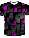 Men\'s T-shirt - 3D Print Round Neck Purple