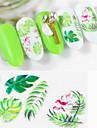 miljö 5d nagelklistermärke nordisk stil tropisk växt prägla nagelkonst klistermärke 1 st