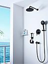 Shower Faucet - Contemporary N / A Wall Installation Ceramic Valve Bath Shower Mixer Taps