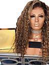 Syntetiska peruker Afro Kinky Frisyr i lager Peruk Medium längd Ljusguldig Syntetiskt hår 50~56 tum Dam syntetisk Ljusbrunt