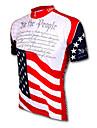 21Grams Amerikanska / USA Landsflagga Herr Kortärmad Cykeltröja - Röd+Blå Cykel Tröja Överdelar Andningsfunktion Fuktabsorberande Snabb tork sporter Terylen Bergscykling Vägcykling Kläder / Formsydd