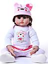 22 tum Reborn-dockor Babyflickor Barn Full Body Silicone med kläder och accessoarer för flickors födelsedags- och festivalgåvor