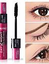 vacker naturlig 3d fiber vattentät långvarig svart mascara ögonfransar lång curling fransar dubbla effekter mascara ögonmakeup
