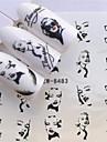 1 pcs Klistermärken White Series nagel konst manikyr Pedikyr Ministil / Säkerhet / Ergonomisk design Stilig / Mode