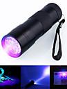 Ultravioletta ficklampor Vattentät LED 5mm Lampa 12 utsläpps 1 Belysning läge Vattentät Ultraviolett ljus Camping / Vandring / Grottkrypning Vardagsanvändning Jakt Svart / Aluminiumlegering