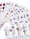 24 pcs Vattenöverföringsklistermärke Blomserier / Roser nagel konst manikyr Pedikyr Universell Stilig / Ljuv Dagligen