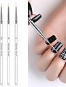 3pcs nagelborststång dra penna målade penna kolonn gelteckning målning akryl nagelpenna för manikyr verktygssats
