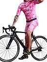 BOESTALK Herr Kortärmad Cykeltröja med Haklapp-shorts Rosa Kamouflage Cykel Träningsdräkter Andningsfunktion Fuktabsorberande Snabb tork sporter Elastan Kamouflage Bergscykling Vägcykling Kläder