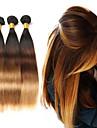 3 paket Brasilianskt hår Rak Äkta hår Nyans 10-26 tum Nyans Hårförlängning av äkta hår Människohår förlängningar / 8A
