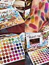 sommar färgstark ögonskugga palett 63 färger matt skimmer blandbar ljus ögonskugga pallete silkespruta pigmenterad smink kit