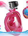 Dykmasker Heltäckande ansiktsmasker enda fönster - Simmning Silikon - Till Barn Blå / 180° / Läckagesäker / Anti-Dimma