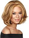 Syntetiska peruker Lockigt Asymmetrisk frisyr Peruk Korta Rödlätt / Blekt Blont Syntetiskt hår 8 tum Dam Party Brun