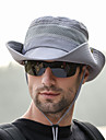 Boonie hatt 1 st Bärbar Vindtät Anti-Eradiation Bekväm Ensfärgat Terylen Höst för Herr Dam Camping / Vandring / Grottkrypning Resa Grå